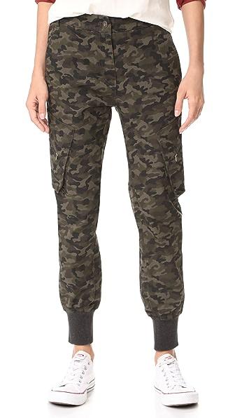 James Jeans Boyfriend Utility Cargo Pants - Deep Army Camo