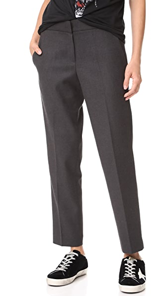 James Jeans Stella Clean Pencil Trousers - Deep Charcoal