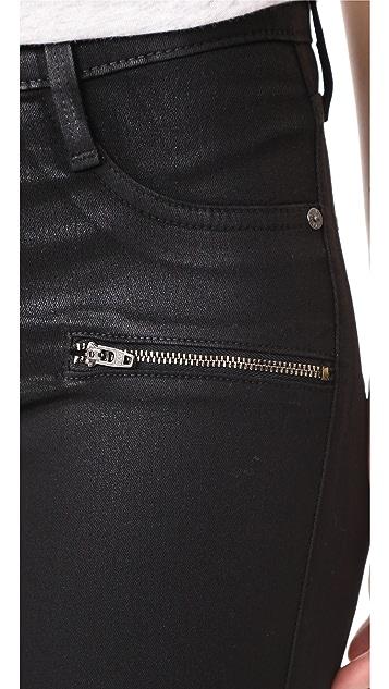 James Jeans Coated Twiggy Ankle Zip Leggings