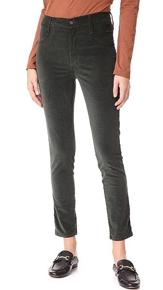 James Jeans Velveteen Skinny High Rise Legging Jeans In Ivy