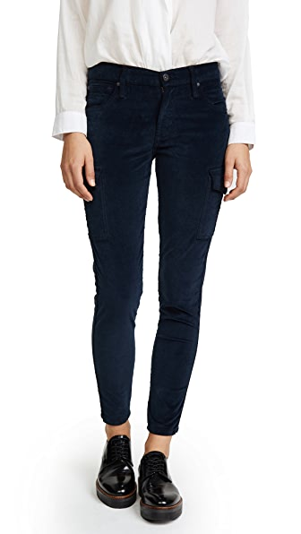 Twiggy Velvet Ankle Cargo Pants