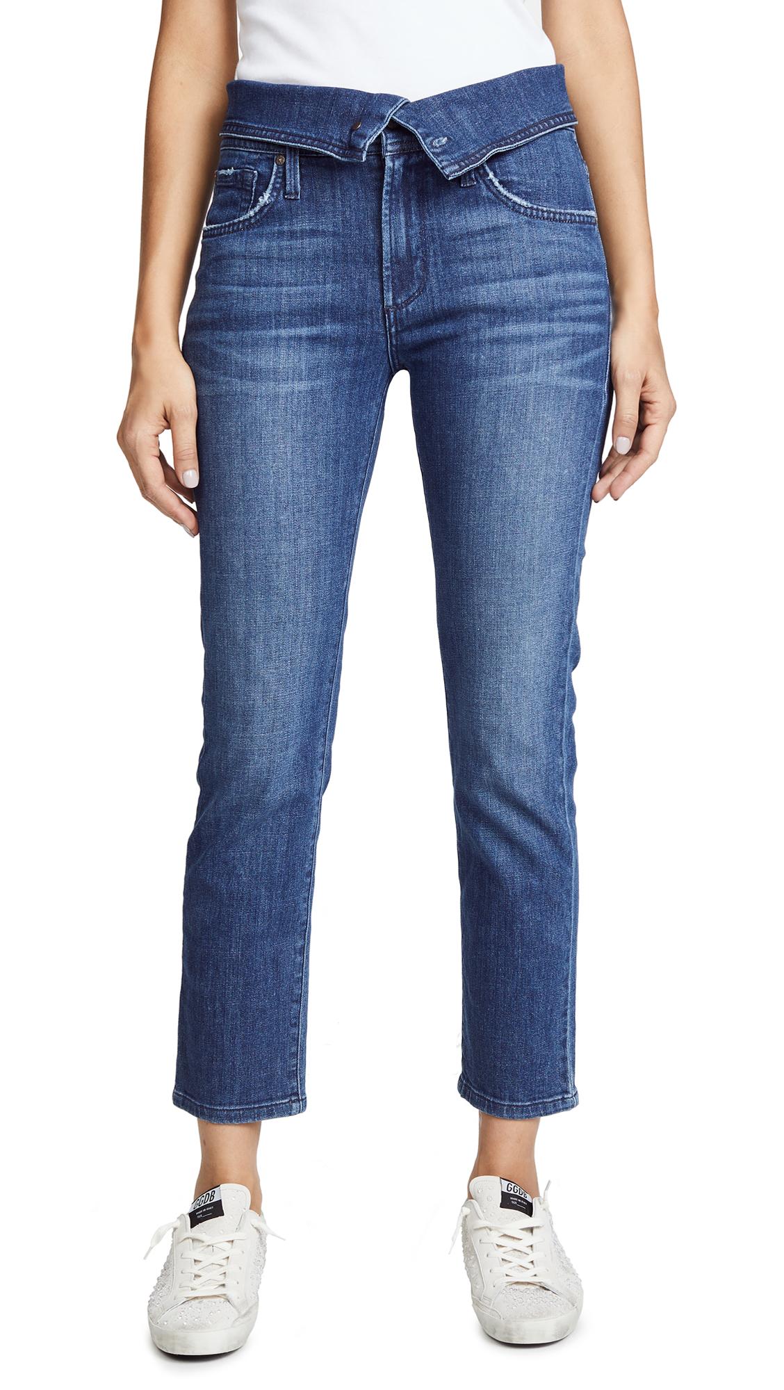 JAMES JEANS Folie Fold Over Jeans in Retrospect