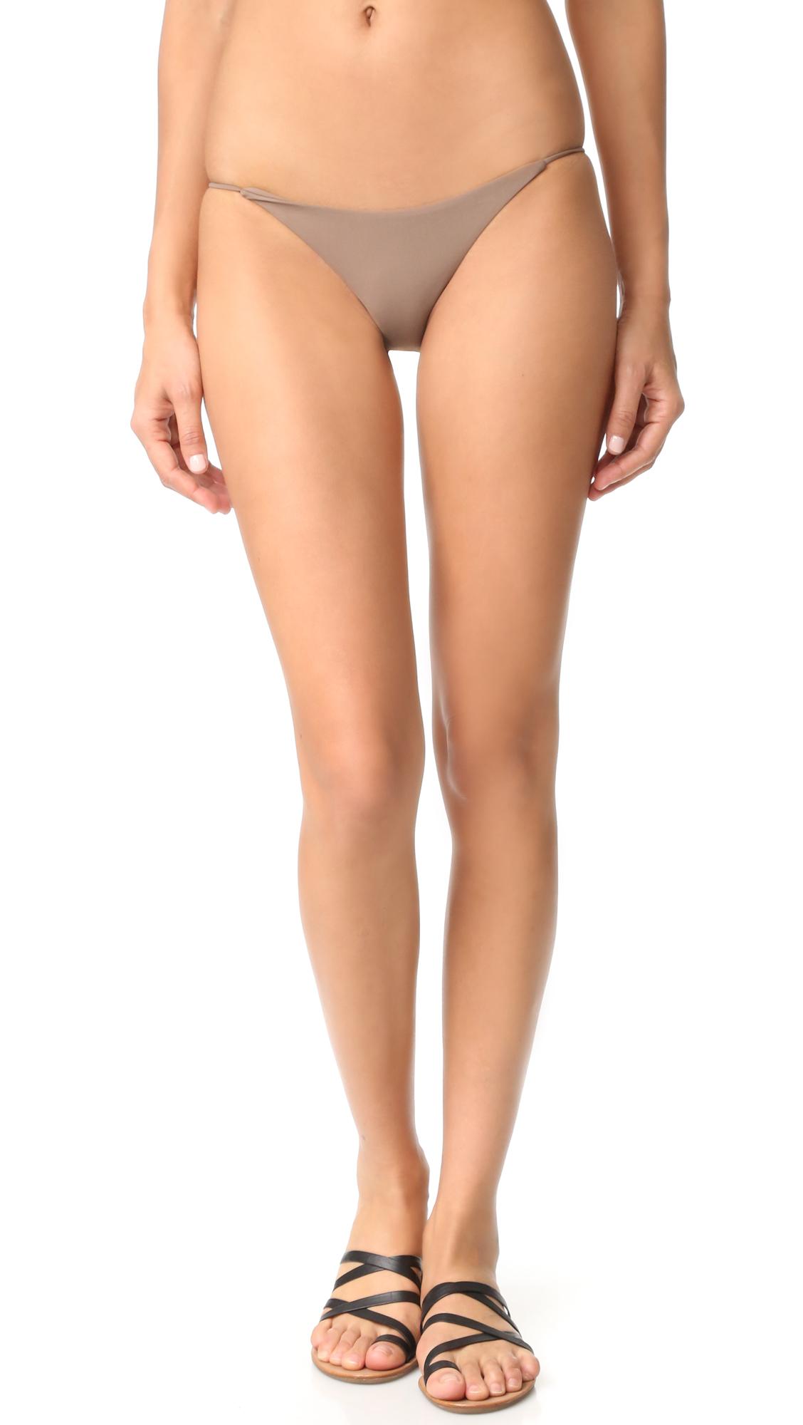 Jade Swim Bare Minimum Bottoms - New Nude at Shopbop