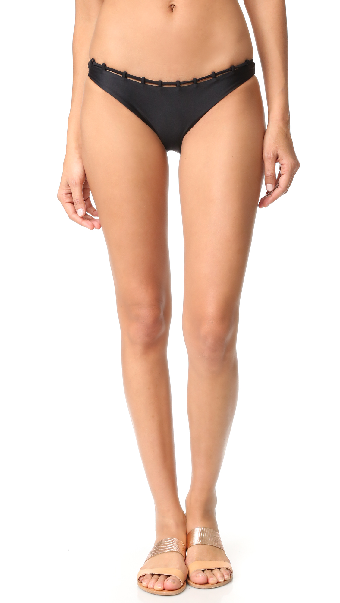 Jade Swim Chain Reaction Bottoms - Black at Shopbop