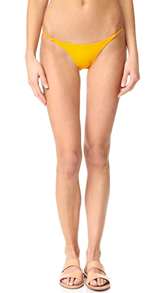 JADE Swim Bare Minimum Bikini Bottoms - Citrine