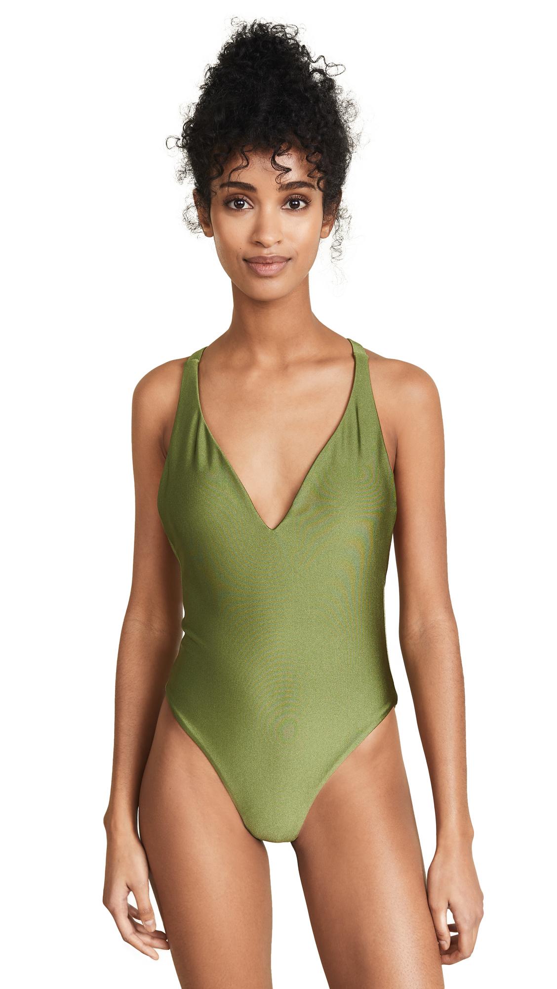 JADE SWIM Revel One Piece Swimsuit in Eden