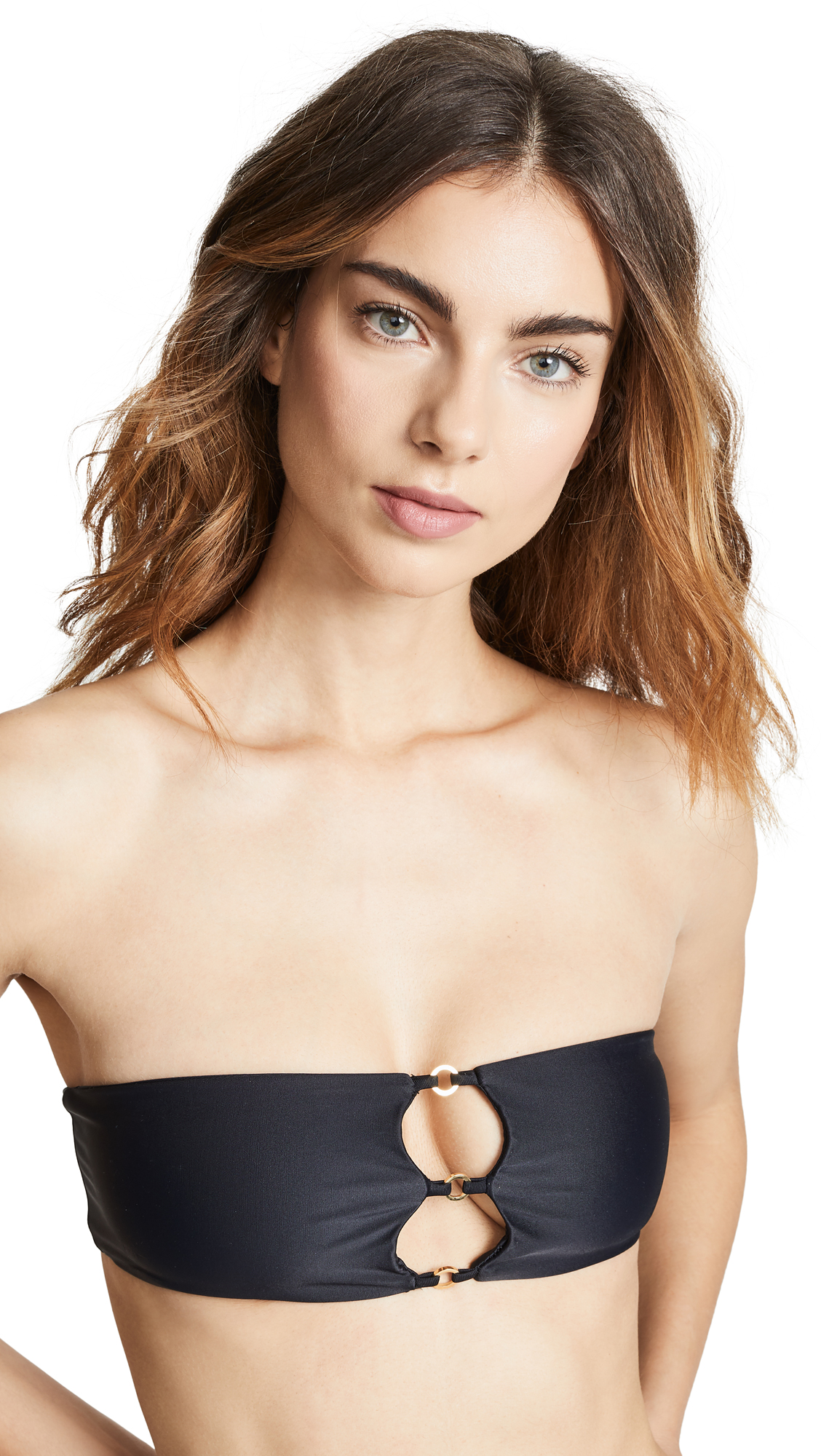 JADE SWIM Ace Bikini Top in Black