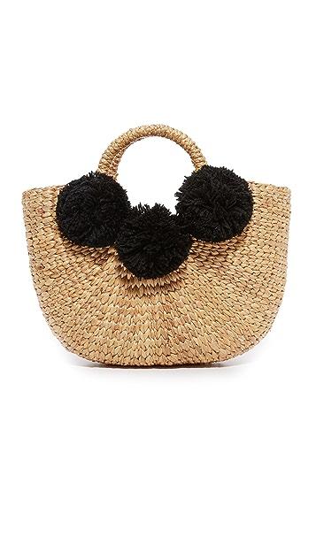JADEtribe Basket Mini Pom Bag