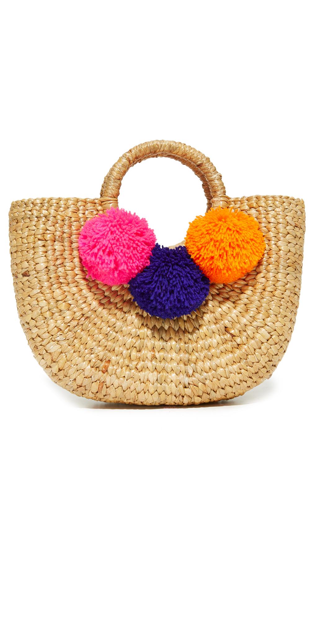 Basket Mini Pom Bag JADEtribe