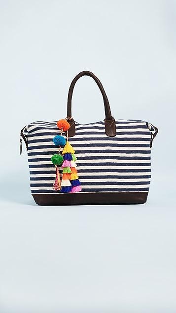 JADEtribe Valerie Tassel Pom Weekender Bag