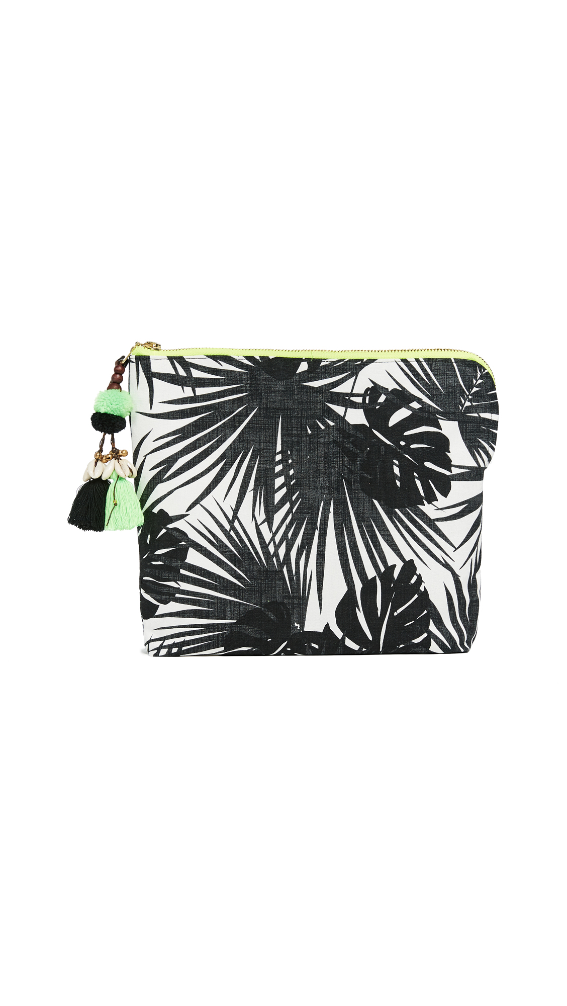 JADETRIBE ALOHA NEON ZIP CLUTCH