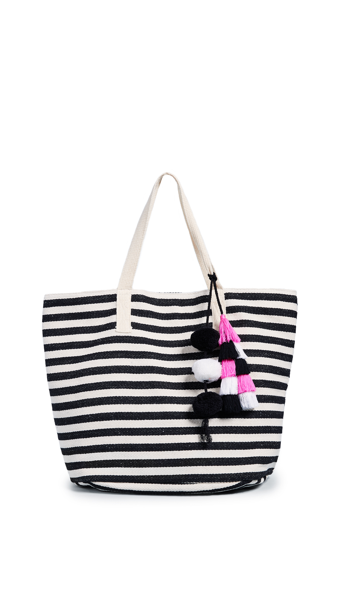 Valerie Small Bucket Tote, Black/Pink