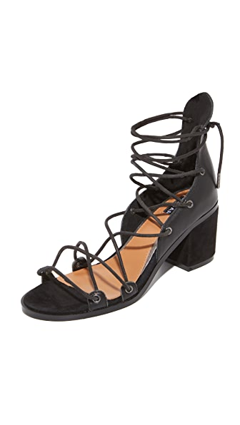 JAGGAR Holdtight Block Heel Sandals - Black