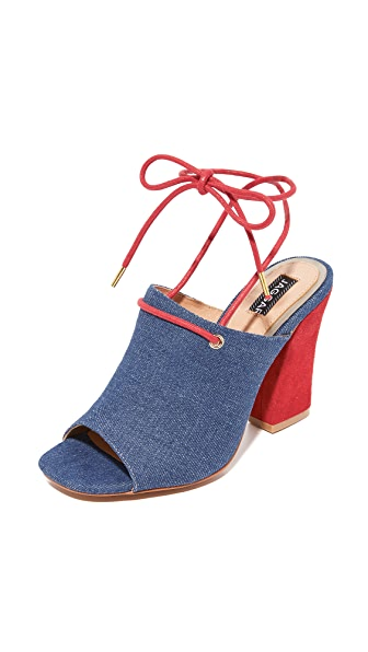 JAGGAR Pinnacle Denim Heels - Denim
