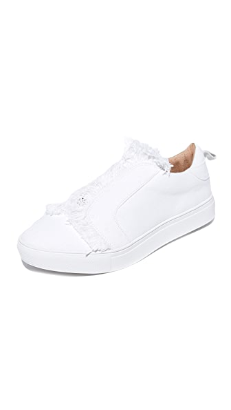 JAGGAR Fray Slip On Sneakers - Chalk