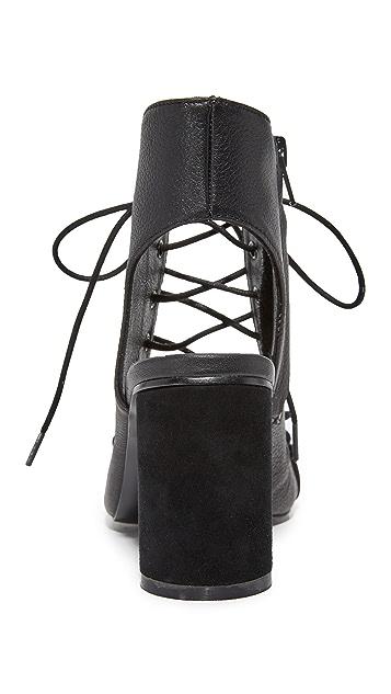 JAGGAR Twist Block Heel Sandals