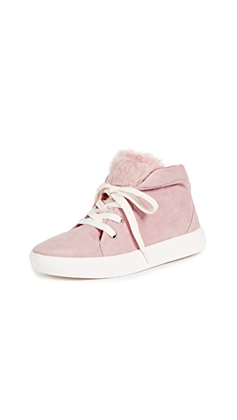 JAGGAR Lace Up Sneakers In Pale Pink