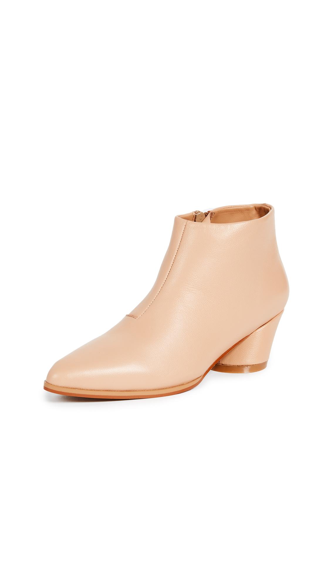 JAGGAR Angular Ankle Boots - Sand