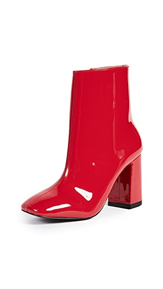 JAGGAR Blocked Boots In Red