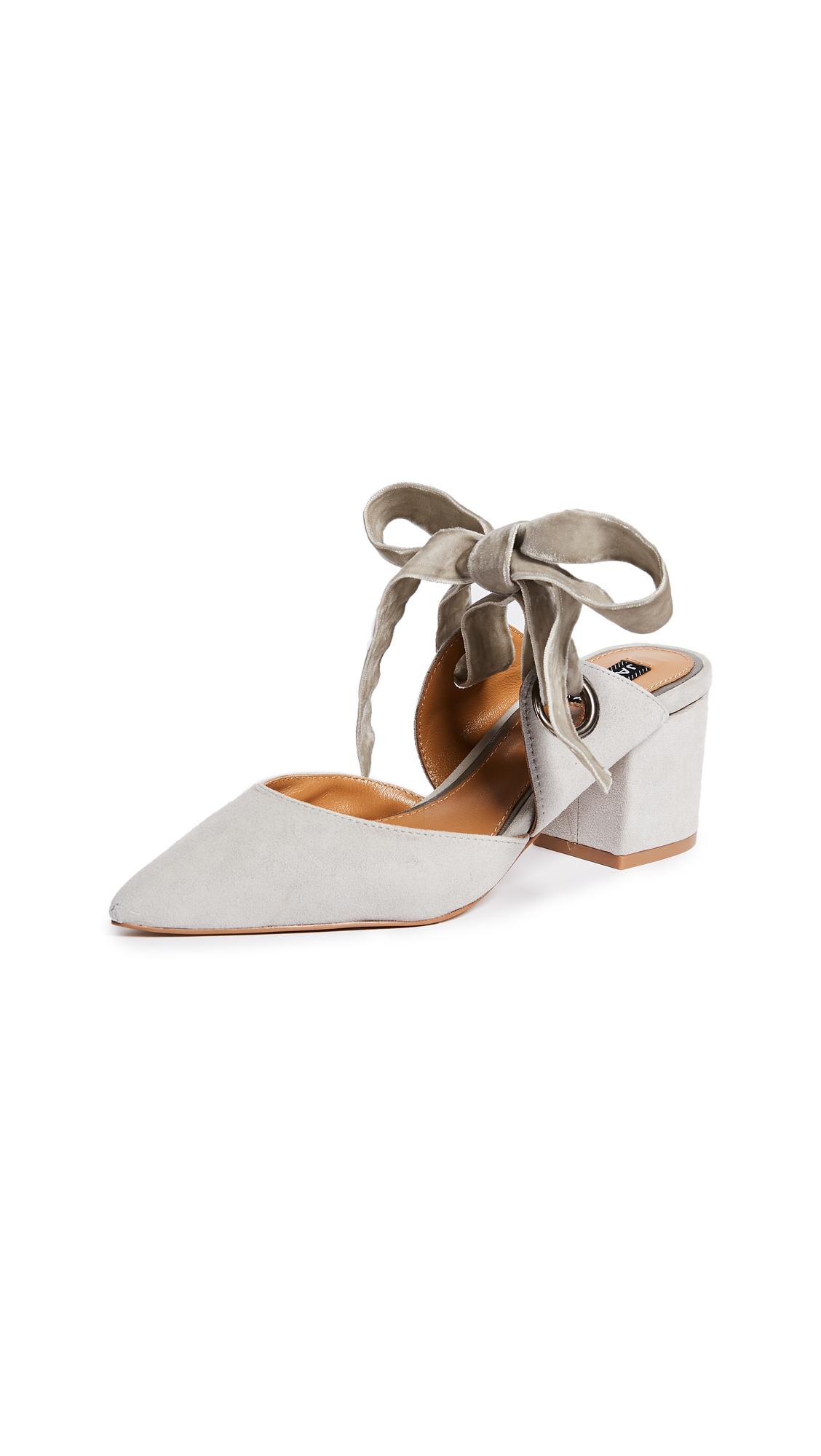 JAGGAR Block Heel Pumps - Grey