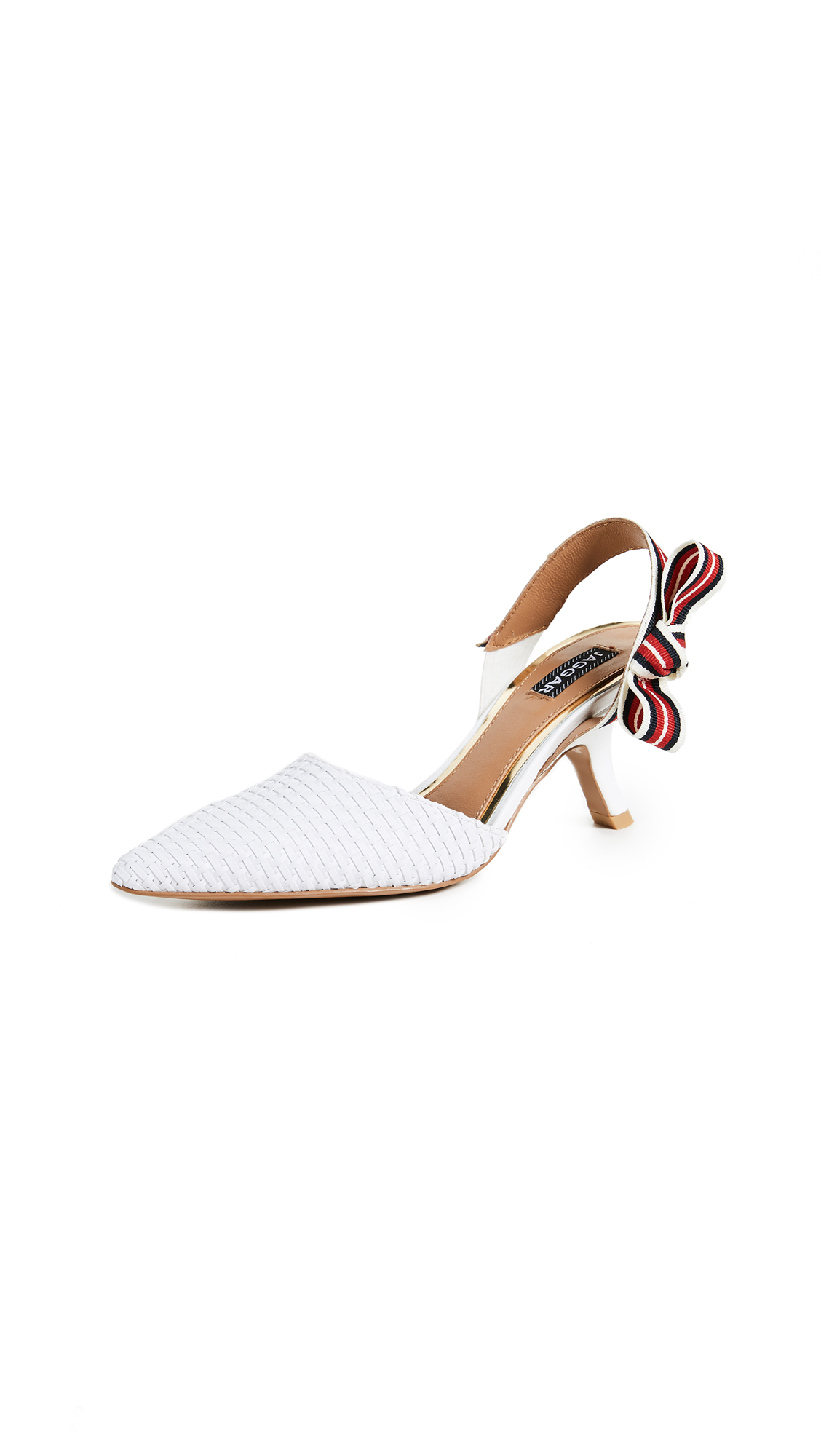 JAGGAR In Detail Kitten Heel Pumps - White