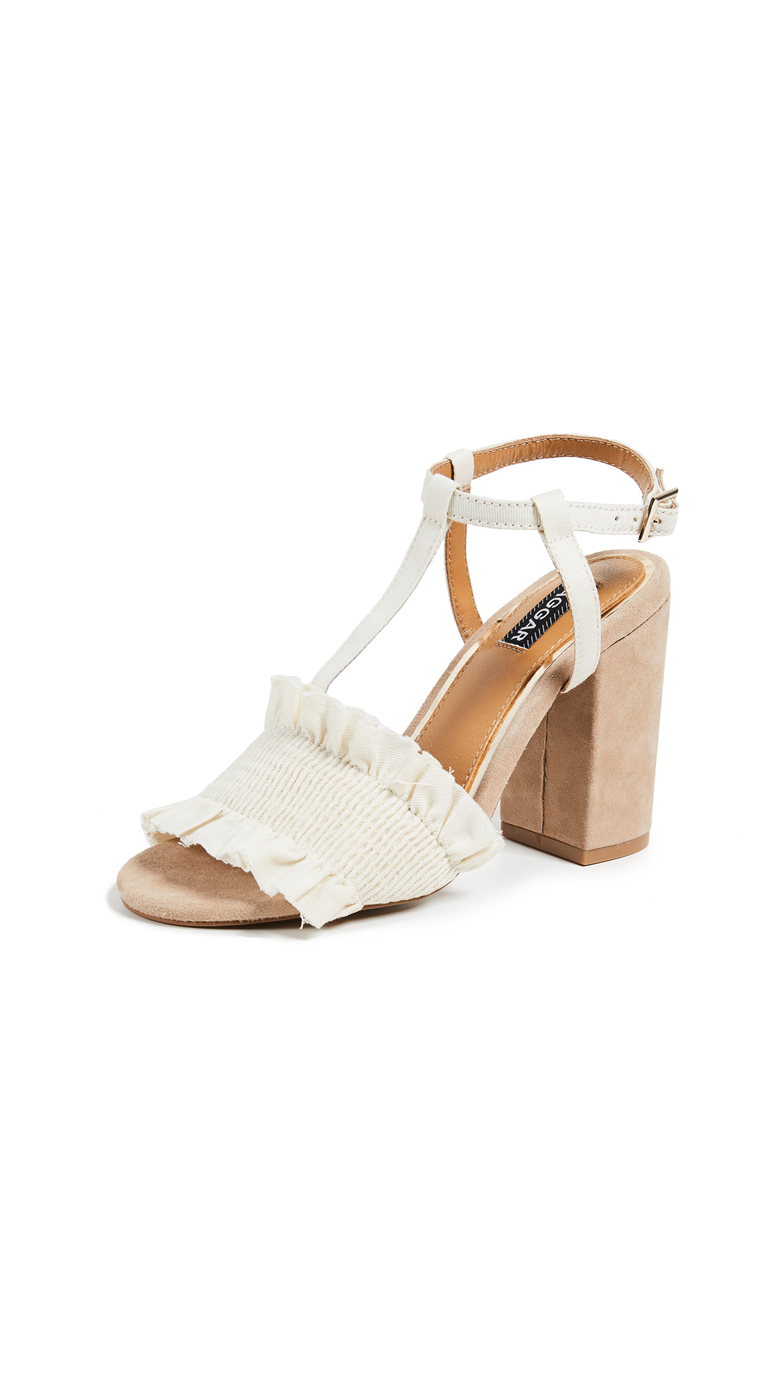 JAGGAR Step Up Block Heel Sandals - Oatmeal