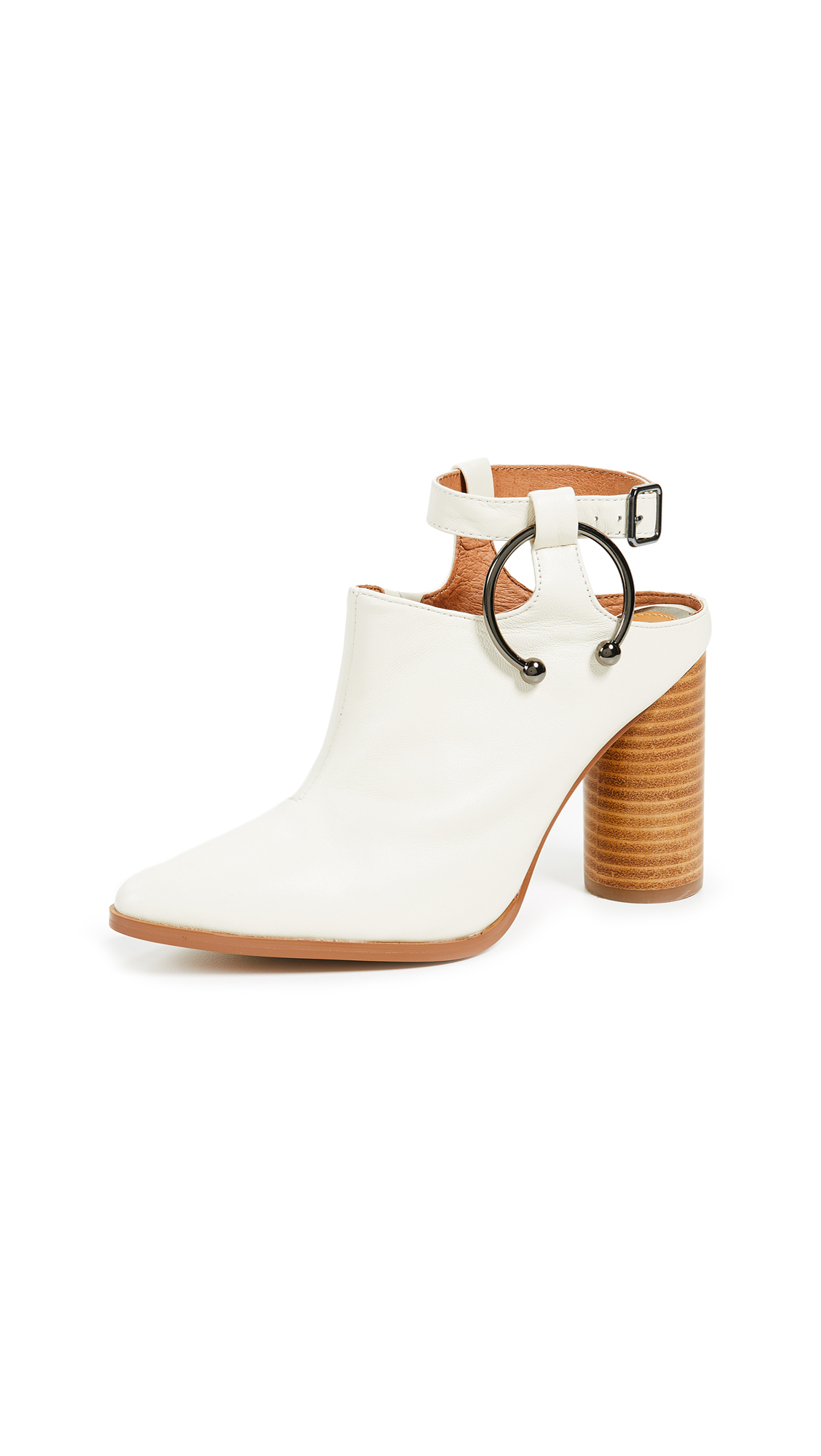 JAGGAR Diverge Block Heel Booties - White