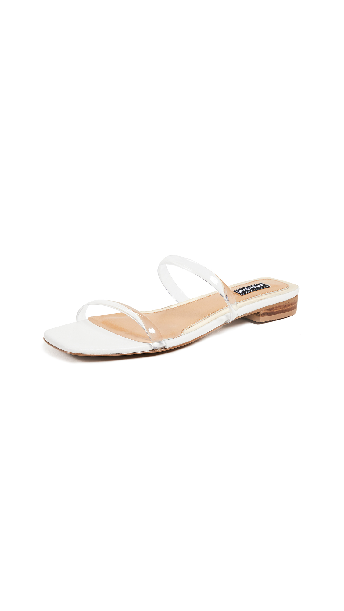 JAGGAR Double Strap Sandals - Clear