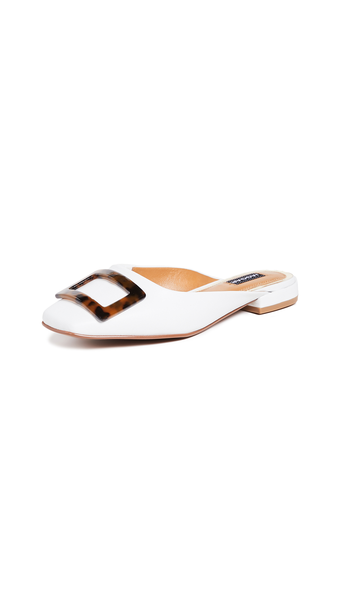 JAGGAR Crown Leather Mules - Ivory