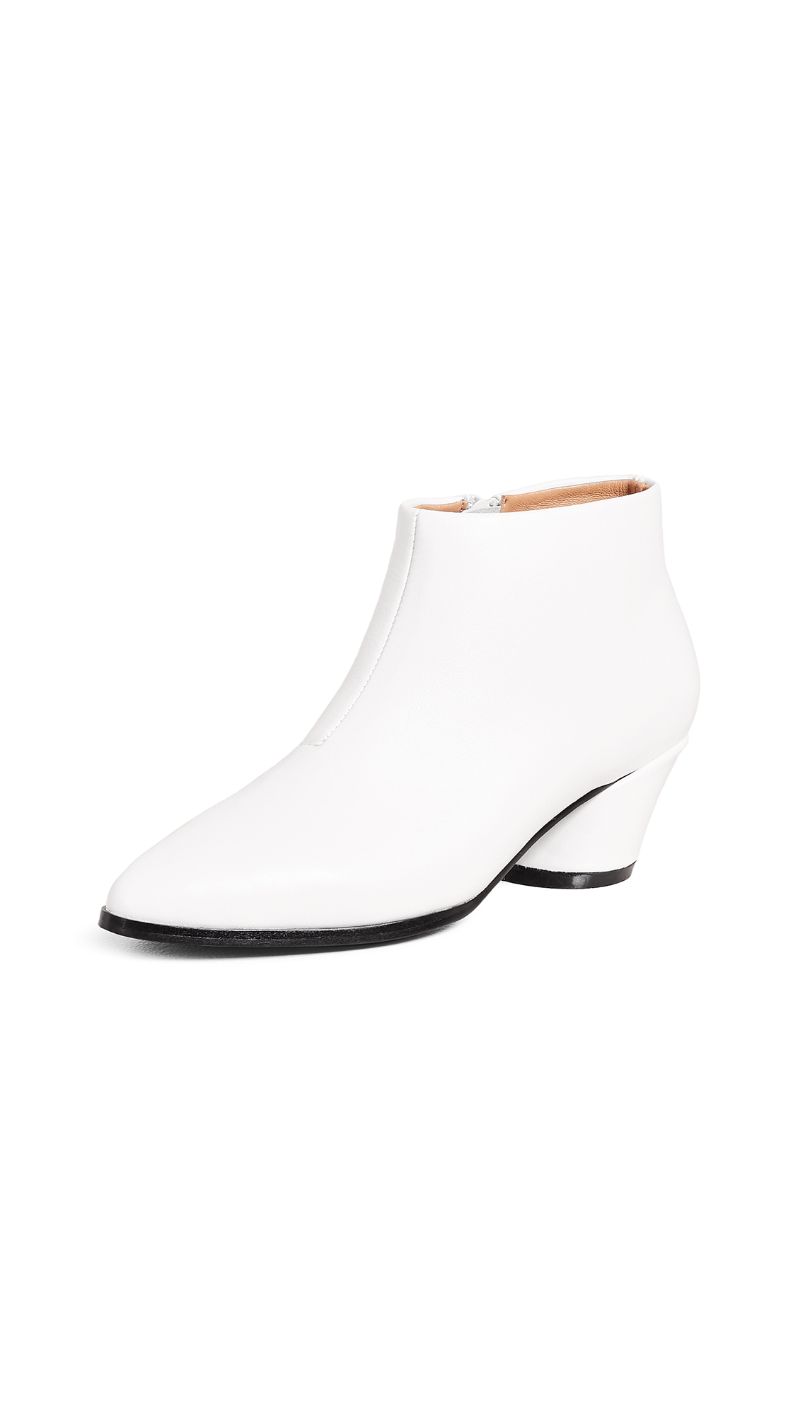 JAGGAR Angular Ankle Boots - Chalk