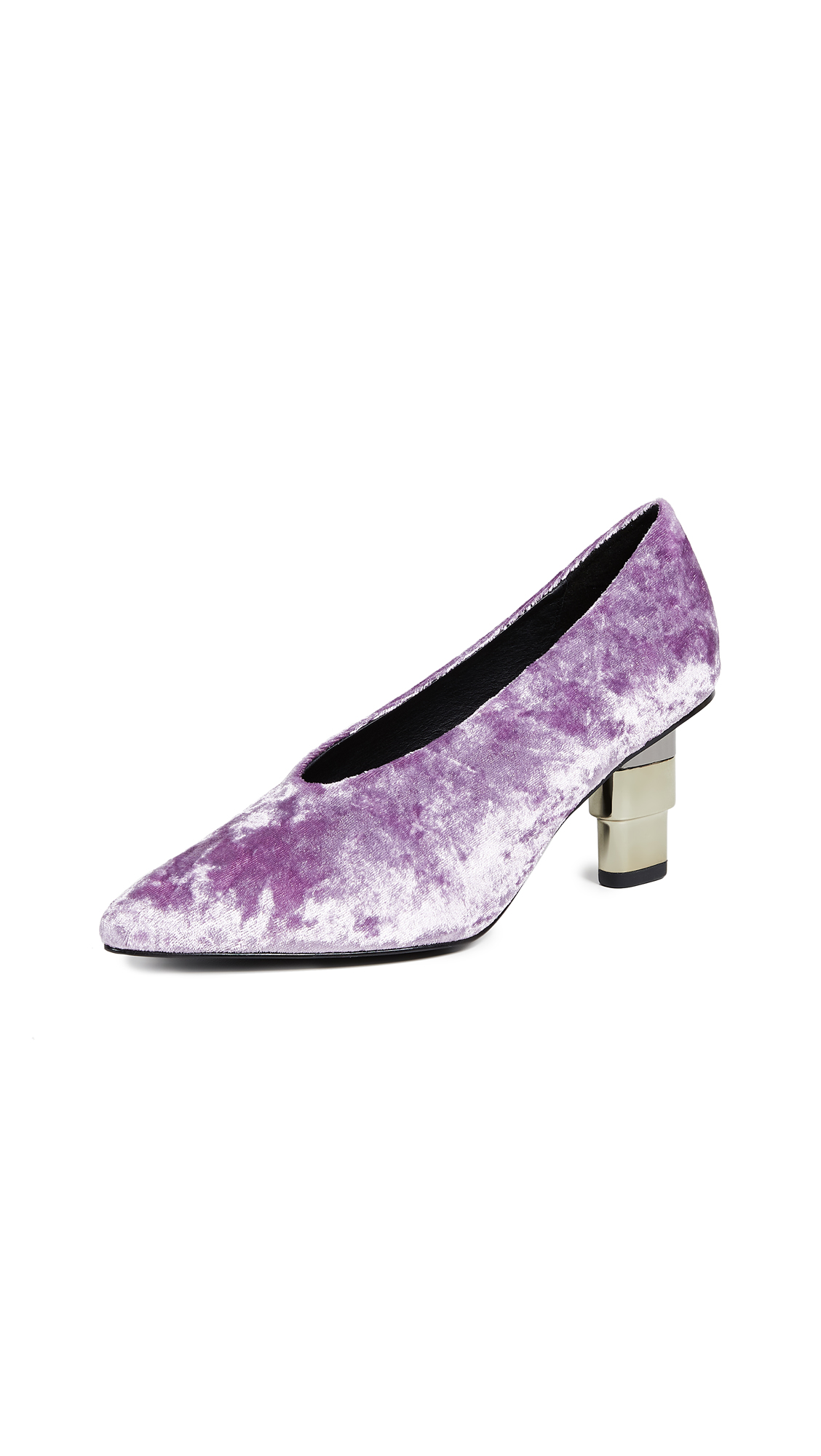 JAGGAR V Cut Pumps - Mauve