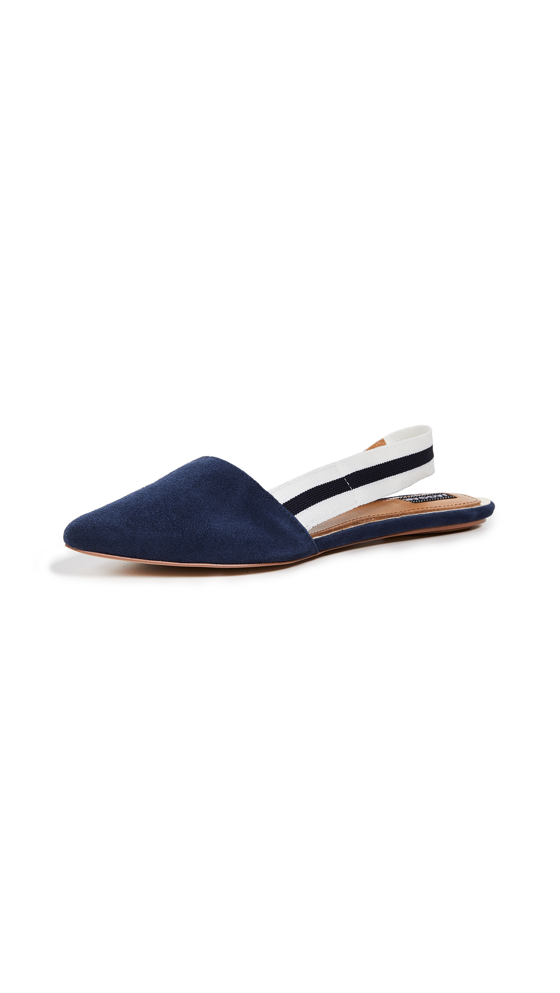 JAGGAR Action Suede Slingback Flats - Navy