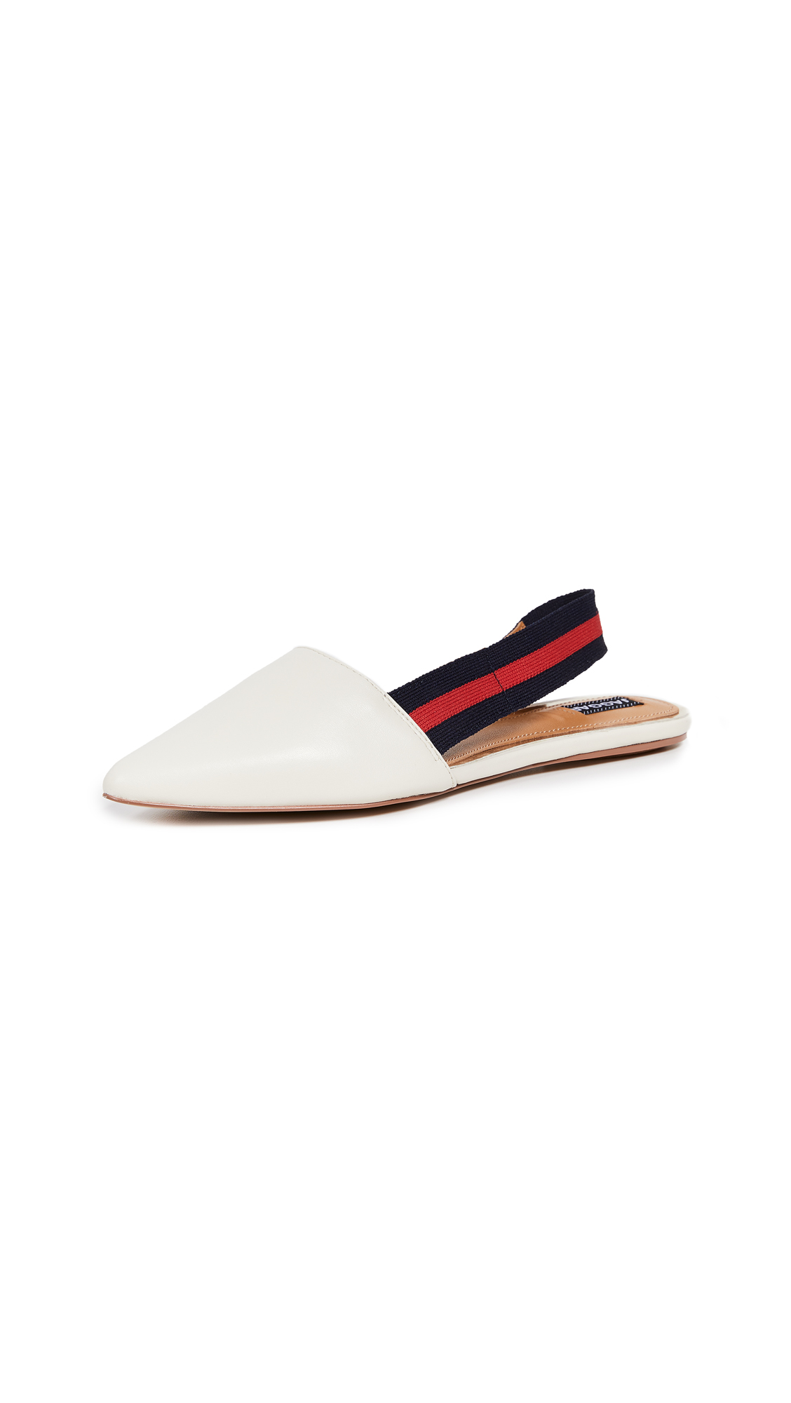 JAGGAR Action Leather Slingback Flats in Cloud