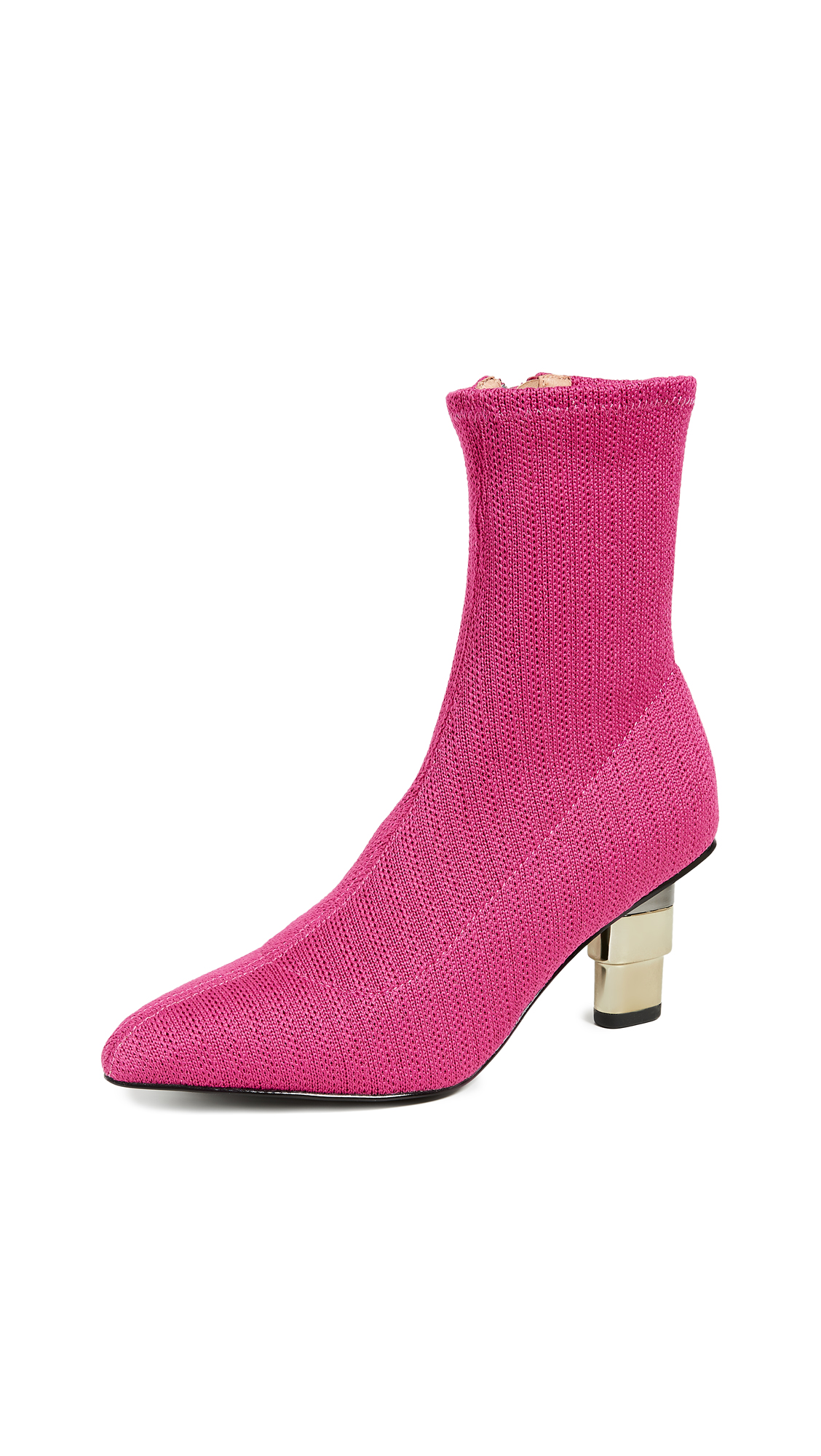 JAGGAR Knit Sock Booties - Fuschia