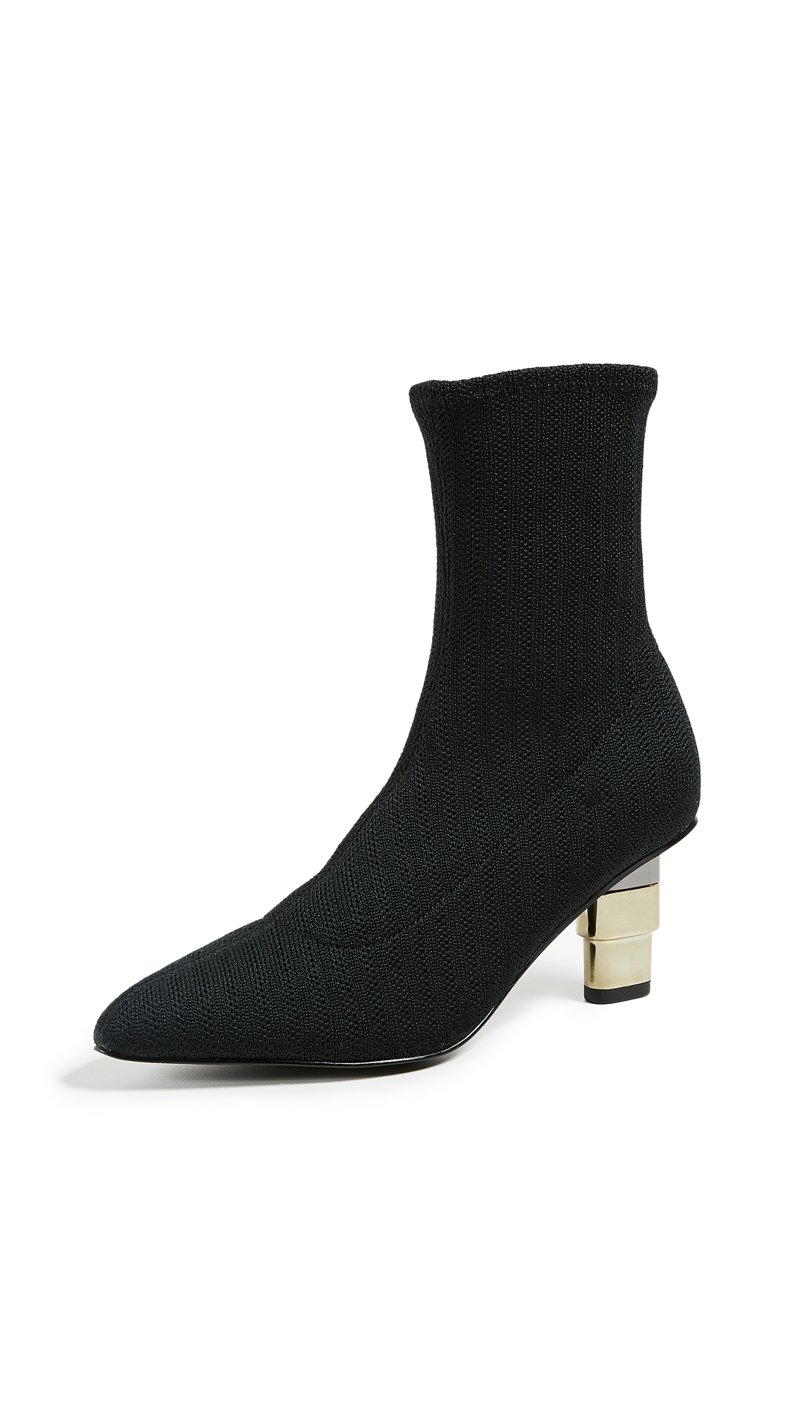JAGGAR Knit Sock Booties - Black