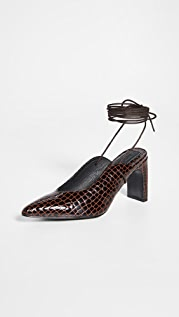 JAGGAR 系带鳄鱼纹鞋跟
