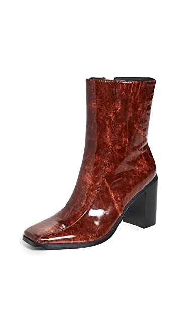 JAGGAR Bold Block Heel Ankle Boots