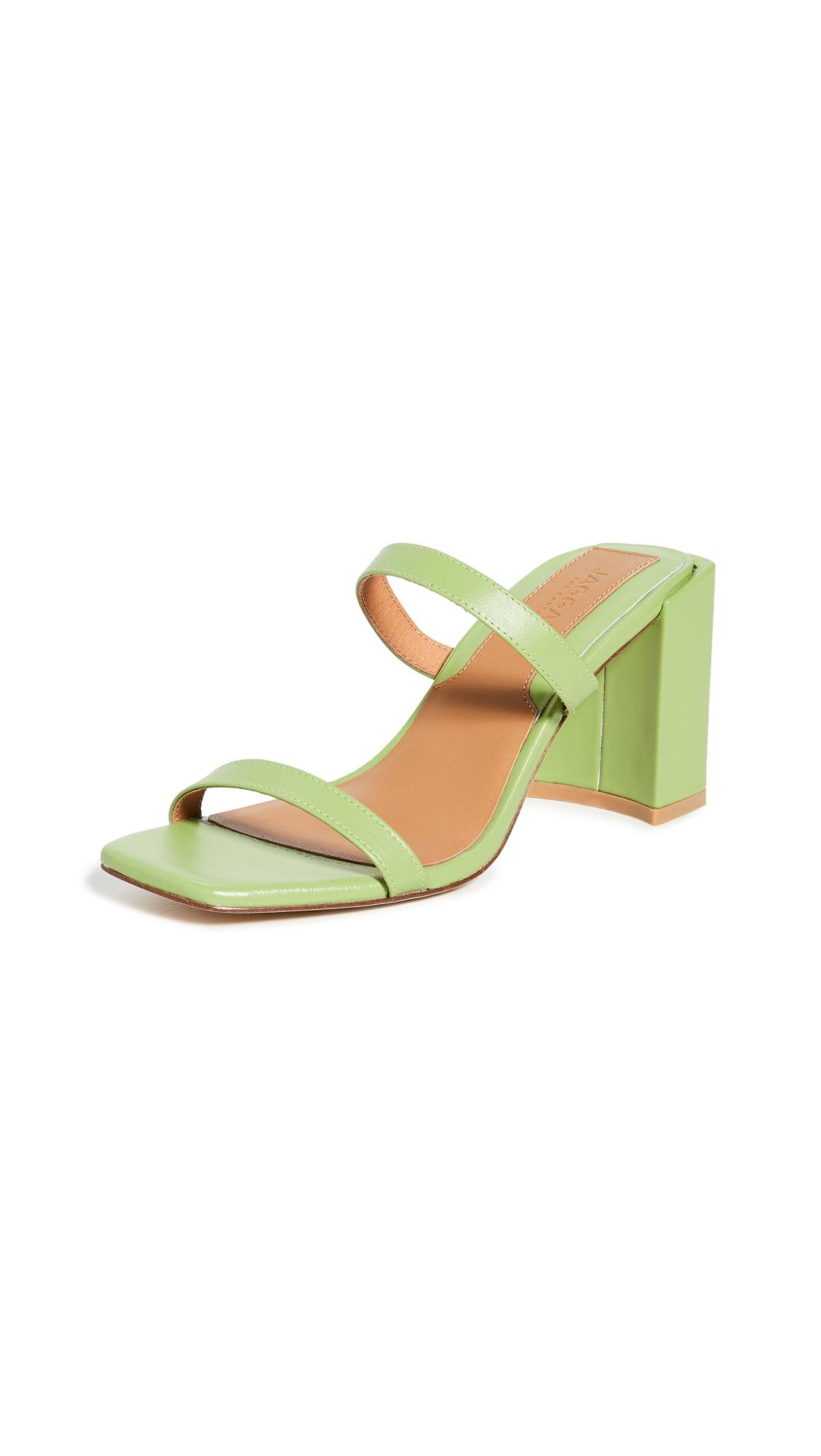 JAGGAR Square Heel Sandals
