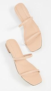 JAGGAR Sprung 双固定带平底鞋