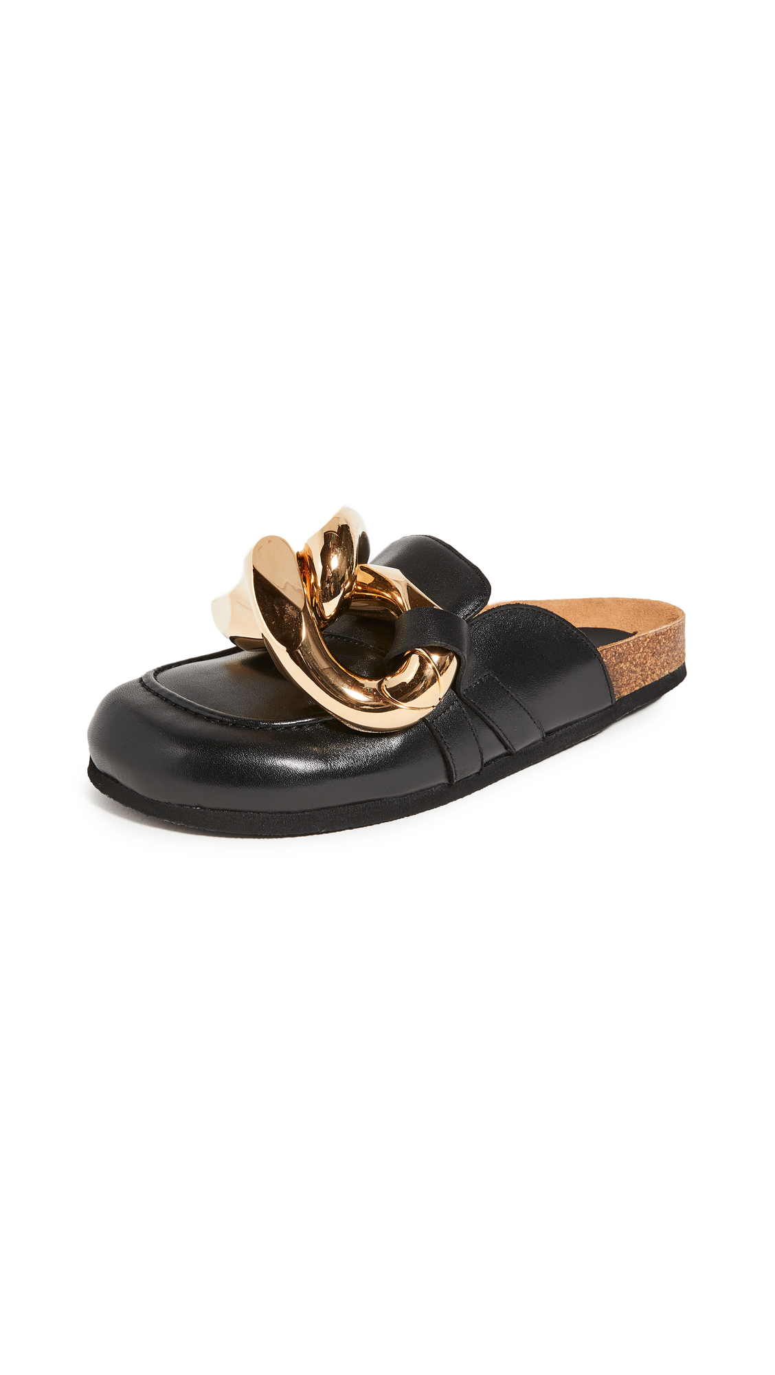 JW Anderson Cylinder-heel Leather Mules in Black White