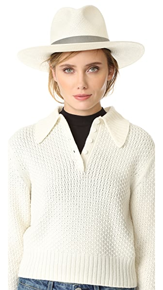 Janessa Leone Celia Short Brimmed Panama Hat