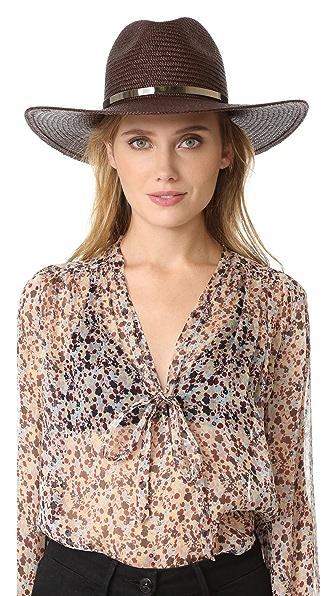 Janessa Leone Emma Short Brimmed Panama Hat
