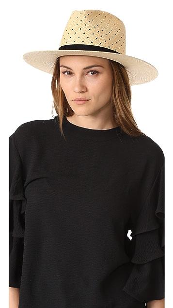 Janessa Leone Claire Tall Crown Panama Hat