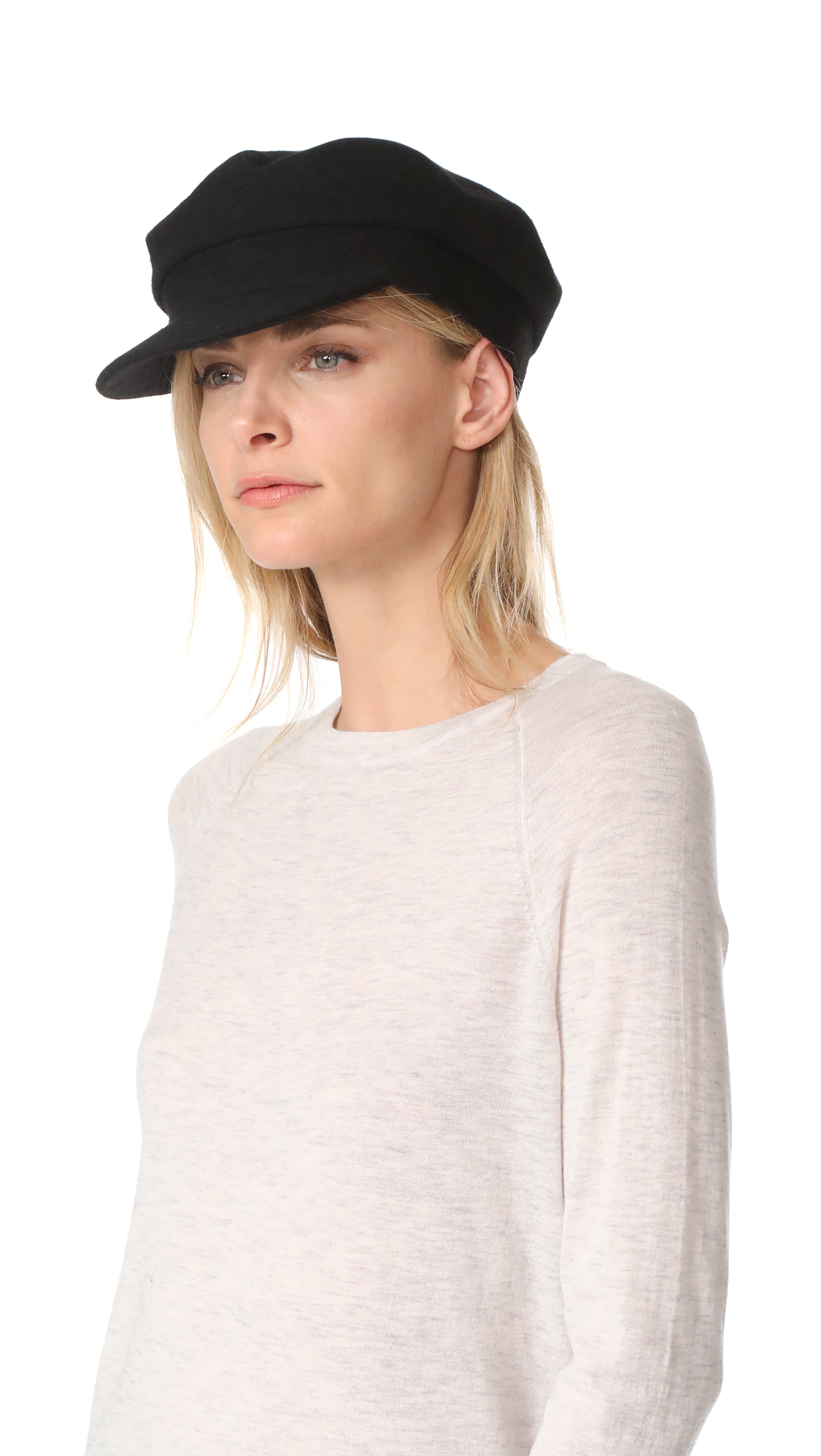 Janessa Leone Mattie Greek Fisherman Cap - Black