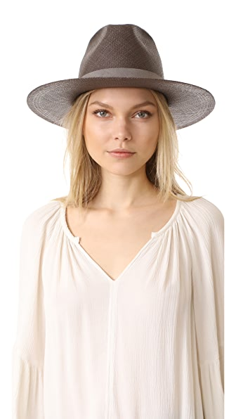 Janessa Leone Justine Tall Crown Panama Hat