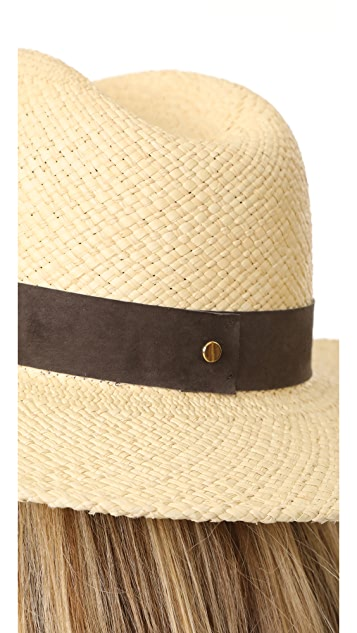 Janessa Leone Anna Wide Brimmed Panama Hat