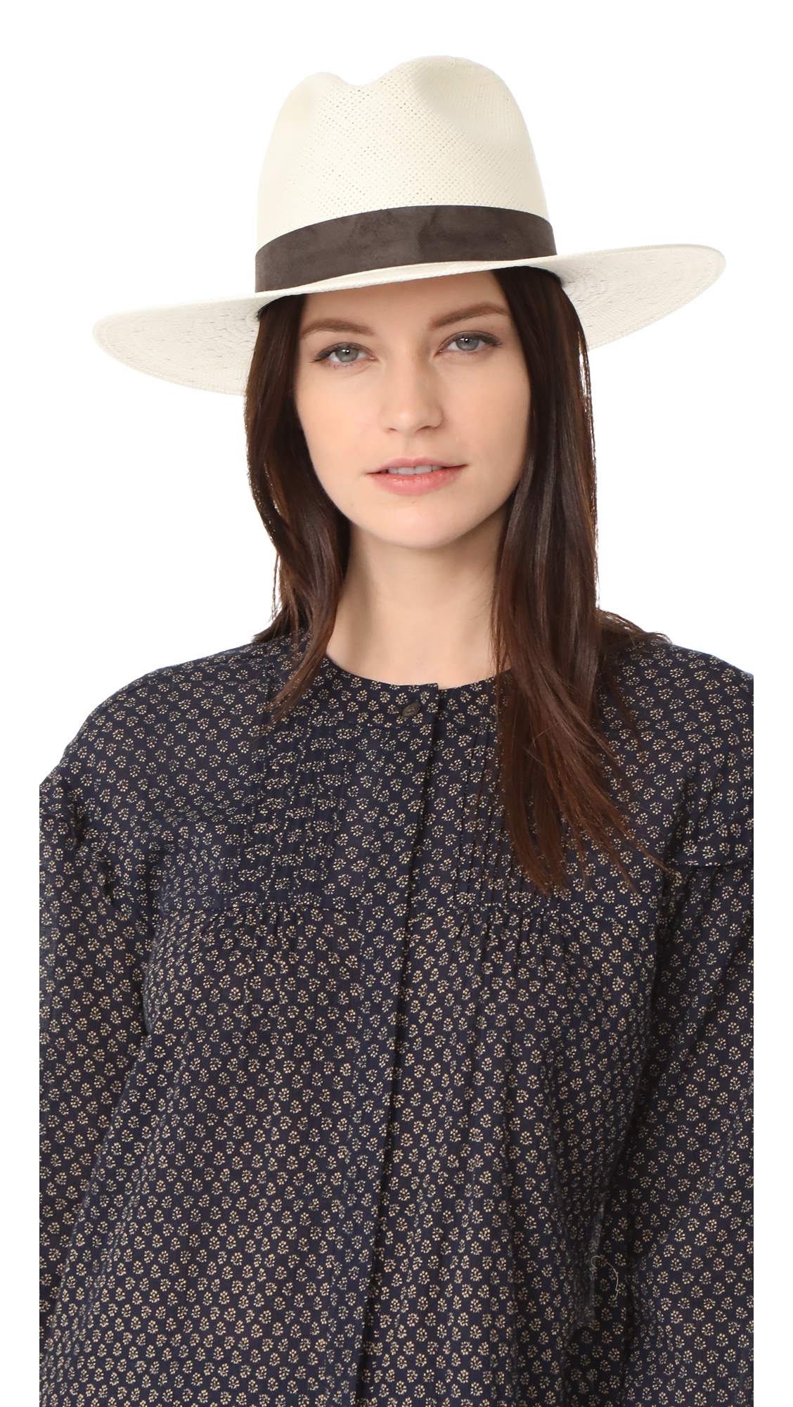 Janessa Leone Packable Marcell Short Brimmed Fedora - Bleach