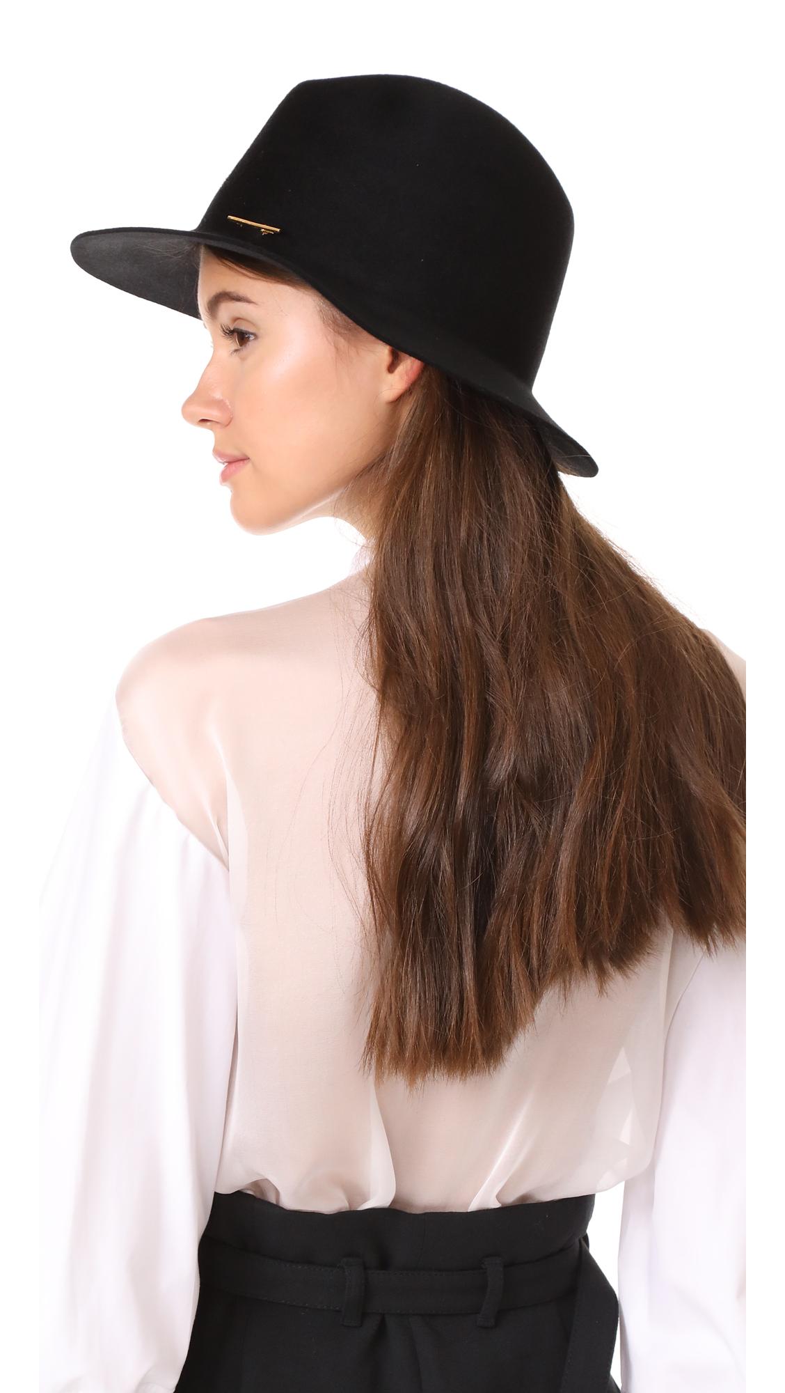 00bed9e05cca2 Janessa Leone Lane Fedora Hat