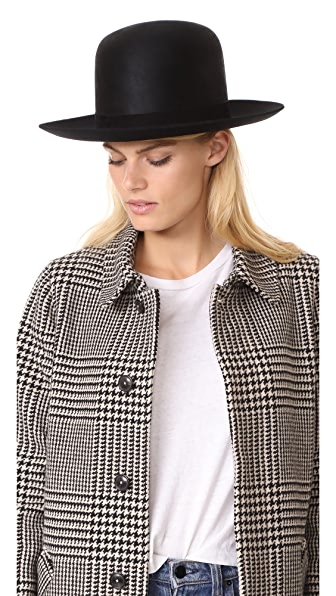 Janessa Leone Diane Bowler Hat - Black