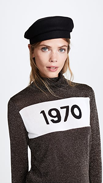 Janessa Leone Michel Hat - Black